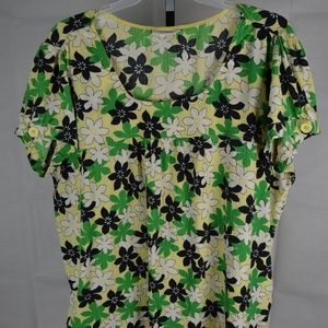 Dressbarn Women's Short Sleeve Blouse Floral 22/24